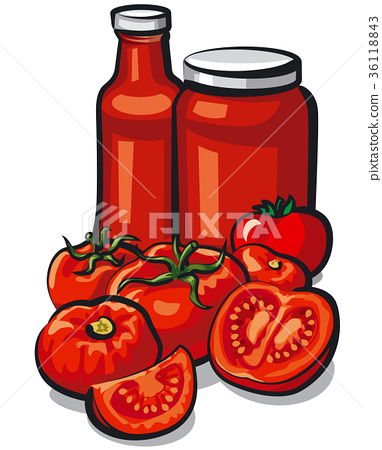 tomatoes and tomato sauce 36118843
