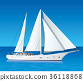 sailing luxury yacht in the sea 36118868