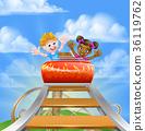 Roller Coaster Fair Theme Park 36119762