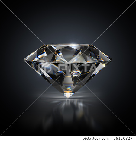 diamond on a black background 36120827