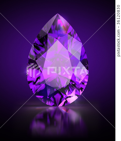 pear-shaped amethyst 36120830