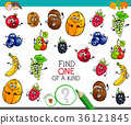 one of a kind game with fruit characters 36121845