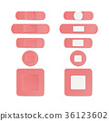 Medical Patch Vector.  36123602