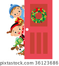 門聖誕節孩子 36123686
