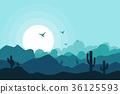 Landscape vector illustration background 36125593