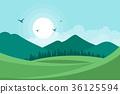 Landscape vector illustration background 36125594