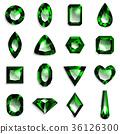寶石綠色祖母綠 36126300