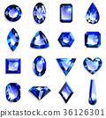 寶石藍色藍寶石 36126301