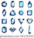 寶石淺藍色 36126303