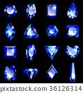 寶石藍色藍寶石 36126314