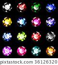 宝石多彩明亮切割上面 36126320