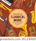 Poster for classical music instruments, sound 36128489