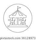 merry go round icon 36128973