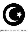 Islam Star crescent icon 36129082