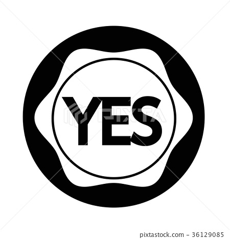 Yes button icon - ภาพประกอบสต็อก [36129085] - PIXTA