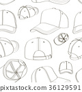 Baseball cap set pattern 36129591