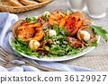 nectarine, dish, food 36129927