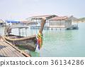 boat and terrace near the sea 36134286