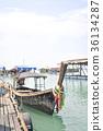boat and terrace near the sea 36134287