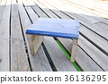 wooden chair on the floor 36136295