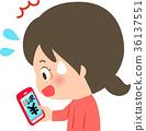 看在智能手機的驚奇的婦女計費屏幕 36137551