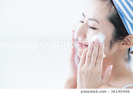 Face wash cleansing beauty woman skin care beauty 36140406