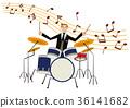 연주, 드럼, 남성 36141682
