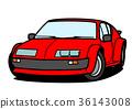 法國歷史的跑車紅色汽車例證 36143008