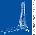 Oil rig. Detailed vector illustration 36143625
