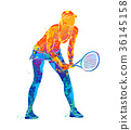 tennis player, silhouette 36145158