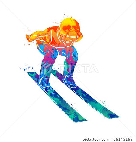 Jumping skier sport 36145165