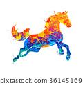 Galloping horse Abstract 36145169