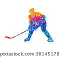 Hockey player illustration 36145179