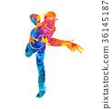 baseball player ball 36145187