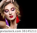 beautiful girl with bright makeup 36145211