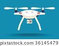Drone isolated on background 36145479