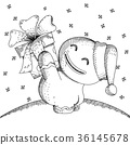 Hand drawn sketch cute gingerbread  36145678