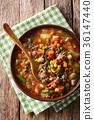 湯 蔬菜 豆子 36147440
