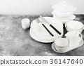 white, plate, tableware 36147640