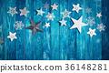 Christmas stars on wooden planks 36148281