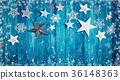 Christmas stars on wooden planks 36148363