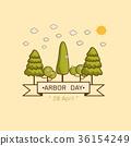 National Arbor Day Vector illustration. 36154249