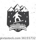 snowboarding, snowboard, vector 36155732