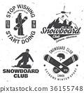 snowboarding, snowboard, vector 36155748