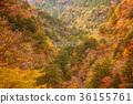 风景的山谷,横跨山谷的桥梁,Sumata峡谷。 36155761