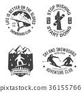 snowboarding, snowboard, vector 36155766