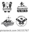 snowboarding, snowboard, vector 36155767