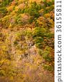 谷景观,深秋的山脉。 36155811