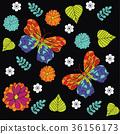 刺繡 花香 花朵 36156173