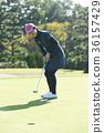 高爾夫球手 女生 女孩 36157429